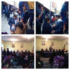 Visitando la sede de los vendedores de periódicos de La Paz y El Alto para hablar sobre los CITES.
