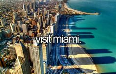 I'd love to visit Miami! So pretty and tropical...look at that water!