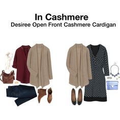 Desiree Open Front Cashmere Cardigan- do like the oatmeal colored cardigan, and cashmere is always so soft but light to wear