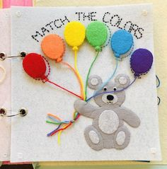 Excited to share this item from my shop: Color Match Balloon Quiet Book Page, felt handmade busy book/activity book for toddlers and children Diy Busy Books, Diy Quiet Books, Baby Quiet Book, Felt Quiet Books, Activity Books For Toddlers, Book Activities, Quiet Book For Toddlers, Summer Activities, Diy Toys For Toddlers