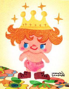 30分でキャラクター。赤ちゃん王子、ベビープリン。早く黒毛和牛のミルクもってきなちゃい!