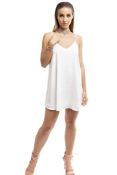 White Slip Mini Dress