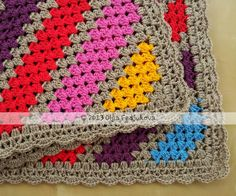 Crochet Bright Diagonals - Tutorial ❥ 4U // hf