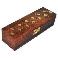 Dakshcraft Brass Inlay Wooden Jewelry Box for Bracelets,rakhi gifts for Sister