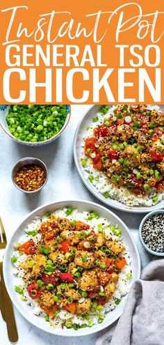 This Instant Pot General Tso's Chicken is a delicious alternative to takeout - you still get all the flavours of Chinese food that you crave but it's made in one pot with ingredients found in your pantry for a healthier twist! #generaltso #Instantpot Oven Recipes, Lunch Recipes, Summer Recipes, Crockpot Recipes, Soup Recipes, Great Recipes, Salad Recipes, Vegetarian Recipes, Chicken Recipes