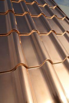 Lathrop compound Mediterranean Tile — Interlock® Metal Roofing Systems How An Ultrasonic Humidifier Metal Roof Houses, House Roof, House With Metal Roof, Metal Roofing Systems, Roofing Materials, Exterior House Colors, Exterior Design, Roof Design, House Design