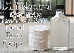 pH Balancing Himalayan Salt & Apple Cider Vinegar Facial Toner (Add a few drops of Lavender, Chamomile, or Rosemary Essential Oils which is beneficial for the skin plus a nice calming scent) Toner For Face, Skin Toner, Facial Toner, Oily Skin, Beauty Care, Diy Beauty, Beauty Tips, Beauty Hacks, Beauty Ideas
