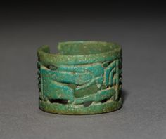 Openwork Ring, 1069-715 BC Egypt, Third Intermediate Period, Dynasties 21 (1069-945 BC) - 22 (945-715 BC) turquoise faience