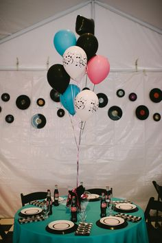 Wedding / Event Tablescape: 1950's Theme