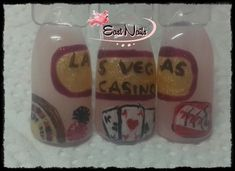 Las Vegas gearbeitet mit Make up Gel und Acrylfarben Wine Glass, Las Vegas, Up, Nails, Tableware, Finger Nails, Dinnerware, Ongles, Last Vegas