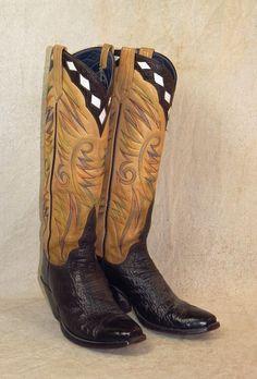 Chris Bennett Tall Top Boots - New Frontier Western Auctions Best Cowboy Boots, Cowboy Boots Square Toe, Custom Cowboy Boots, Cowboy Gear, Custom Boots, Cowgirl Boots, Western Boots, Cowboy Western, Western Wear