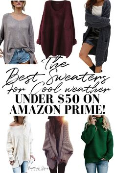 The best sweaters for fall and winter under  50 on amazon prime! I ve 92eaf26b3