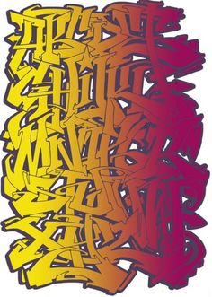 LETTERS in graffiti style art , this maybe the main upfront part.. as letters play the main roll in the art form .. like graffiti or street art ? check  https://www.etsy.com/shop/urbanNYCdesigns?ref=hdr_shop_menu #graffiti #streetart #letters