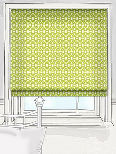 Lime green and linked together this geometrically patterned Lace blind is inspired by traditional lace but with a bright and bouncy colour combination that hurtles it into the 21st century.