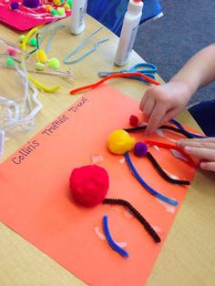 Truffula Trees activity for Dr. Seuss's birthday