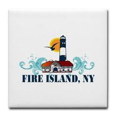 Fire Island Tile Coaster on CafePress.com