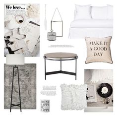 """""""Make It a Good Day"""" by little-bumblebee ❤ liked on Polyvore featuring interior, interiors, interior design, home, home decor, interior decorating, H&M, Crate and Barrel and Surya"""
