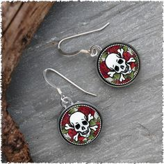 Skull Earrings by Spirit Lala. American Made. See the designer's work at the 2015 American Made Show, Washington DC. January 16-19, 2015. americanmadeshow.com #earrings, #jewelry, #skull, #americanmade