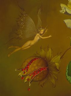 Jose Escofet - The Kiss (detail) Forest Creatures, Mythical Creatures, Spanish Painters, Angels And Demons, Art For Art Sake, Fairy Art, Faeries, Illustrators, Fantasy Art