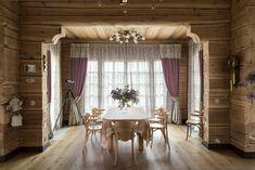 Деревянный дом под ключ-столовая зона