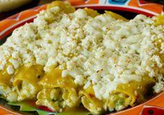 Las Palmas Green Chicken Enchiladas -- Take a bite of authentic Mexican food with Las Palmas - Find the complete recipe at laspalmassauces.com #recipe #LasPalmas #enchiladas