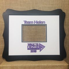 Walk to End Alzheimer's inspired Signature Mat / Photo Matte Keepsake for Team matte holds Alzheimer's Walk, Walk To End Alzheimer's, Miss Mom, 11x14 Frame, Eyes On The Prize, Team Names, Alzheimers, Custom Photo, No Time For Me