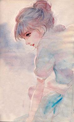 Anime ,illustration , girl