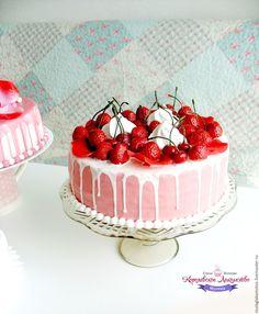 """Decor cake for interior or photoshoot / Торт ягодный (муляж) """"Летнее ассорти"""". - комбинированный, муляж торта, макет торта"""