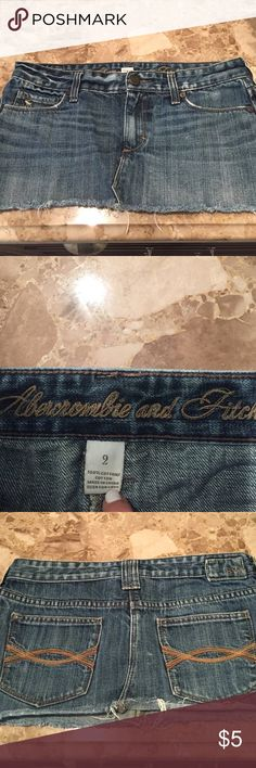 Abercrombie and Fitch denim skirt. Size 2 Abercrombie and Fitch denim mini skirt. Size 2 Abercrombie & Fitch Skirts Mini