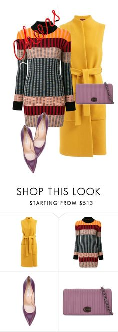"""dress"" by masayuki4499 ❤ liked on Polyvore featuring WtR, Missoni, Casadei and Coach"