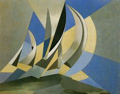 Wind, sea and sail, by Charles Sheeler.