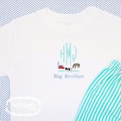 The sweetest announcemr shirt for this soon to be big brother.  NellyBelle Designs