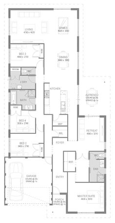 The Carlton Floorplan by GO Homes ****Block off Main bed entrance from retreat (make this a bedroom/study), for door near entrance
