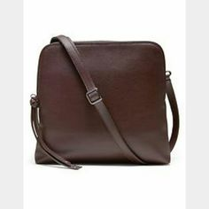 chic basic burgundy leather double pouch bag New with tags. has easy access middle pocket, in second image. made with real leather. Banana Republic Bags Crossbody Bags