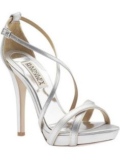 Silver strappy heels for my fair-skinned bridesmaids