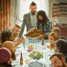 Far Cry 5 - Thanksgiving by capprotti on DeviantArt Far Cry Game, Far Cry 4, Norman Rockwell Thanksgiving, Mundo Dos Games, Thanksgiving Art, Fan Art, Detroit Become Human, Pictures To Draw, Art Pictures