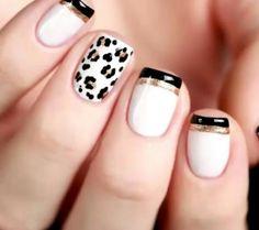 Nails French nails and animal print - Best Nail Art Pink Nail Art, New Nail Art, Pink Nails, Gel Nails, Matte Pink, Toenails, Shellac, Acrylic Nails, Nail Polish
