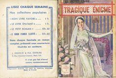 Georges Vallée - Marthe Doranne, Tragique énigme, Ferenczi Le Petit Livre... n°1211, 23 janvier 1936, 96 pages.