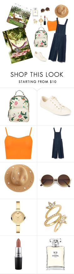 """""""Picnic Time"""" by sebnemu ❤ liked on Polyvore featuring Accessorize, Converse, WearAll, Gap, Movado, Luv Aj, MAC Cosmetics and Chanel"""
