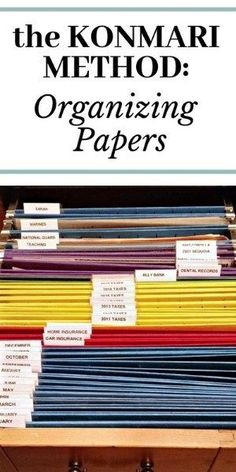 Learn how to use the KonMari method of organizing papers so you can finally tame the paper monster in your home! organization home The KonMari Method: Organizing Papers - The Teacher's Wife Office Organization At Work, Do It Yourself Organization, Business Organization, Business Storage, Office Ideas, Organizing Ideas For Office, Organizing Paperwork, Clutter Organization, Organization Ideas