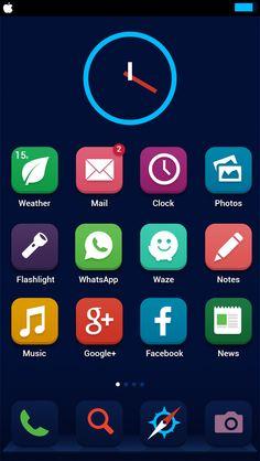 10 Flat redesigns iOS7 / Flat design / Flat icons / Flat ui / Flat pictograms / flat ios #flat #ios #design