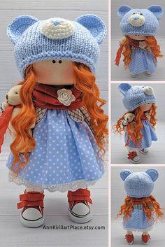 Decor Doll Handmade for Nursery Interior Vivid & Original Baby Girl Toys, Toys For Girls, Handmade Dolls, Soft Dolls, Little Darlings, Nursery Decor, Doll Clothes, Cross Stitch, Crochet Hats