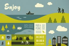 Enjoy. By Bureau of Betterment. Love this idea of promoting Portland metro area's network of parks, trails, natural areas... connecting to nature in an urban environment. Splish splash indeed!