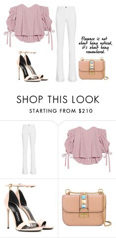 """pinkies"" by mariecolic ❤ liked on Polyvore featuring Frame Denim, Caroline Constas, Tom Ford and Valentino"