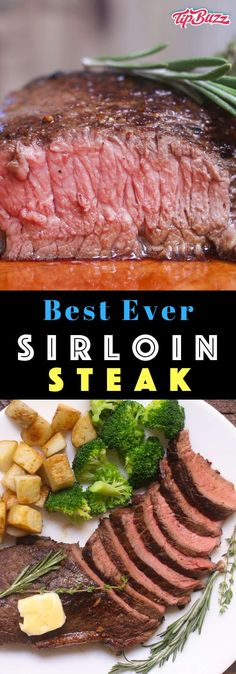 Pan Seared Sirloin Steak with garlic butter - a delicious and budget-friendly steak dinner you can make with just a few simple ingredients in 20 minutes!