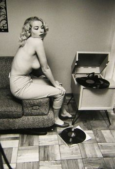 Eve Meyer digs the records...