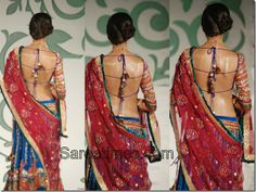 Ghagra backless blouse