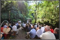 ceremony in the forest at Idille