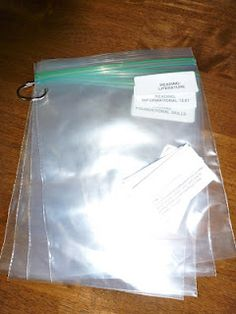 Storage bags linked with a binder loop--may be a good way to finally organize all my Boardmaker materials