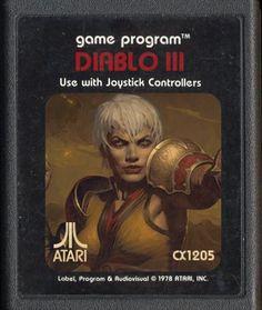 Diablo III reenvisioned as an Atari game.